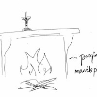 praying mantlepiece